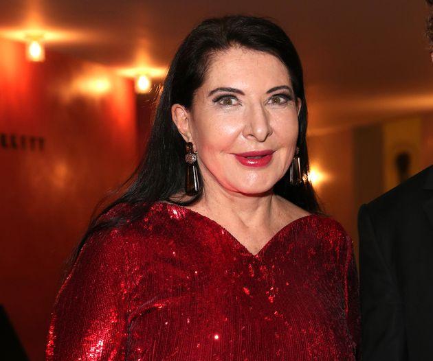 Marina Abramović, tras el estreno de 'Las siete muertes de Maria Callas' el 1 de septiembre de 2020 en...