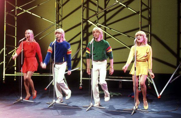 Bucks Fizz performing in Dublin in 1981