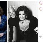 Armani omaggia Sophia Loren:
