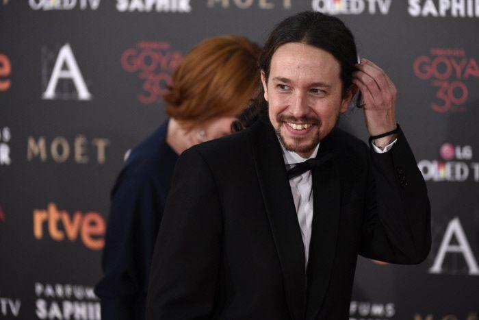 Pablo Iglesias en la gala de los Goya de 2016.