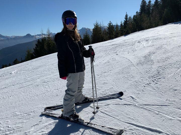 Tasha on the slopes in thePyrenees.