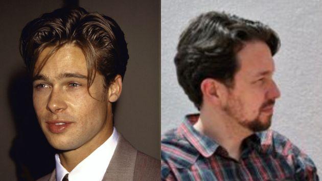 Brad Pitt y Pablo Iglesias