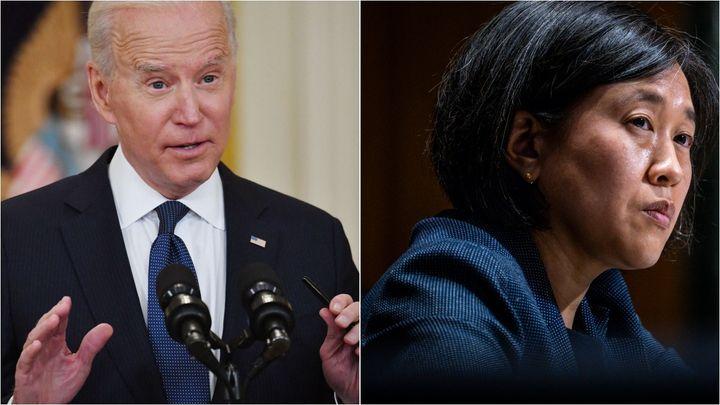 President Joe Biden and U.S. Trade Representative Katherine Tai are under industry pressure to make a COVID-19 vaccine intell