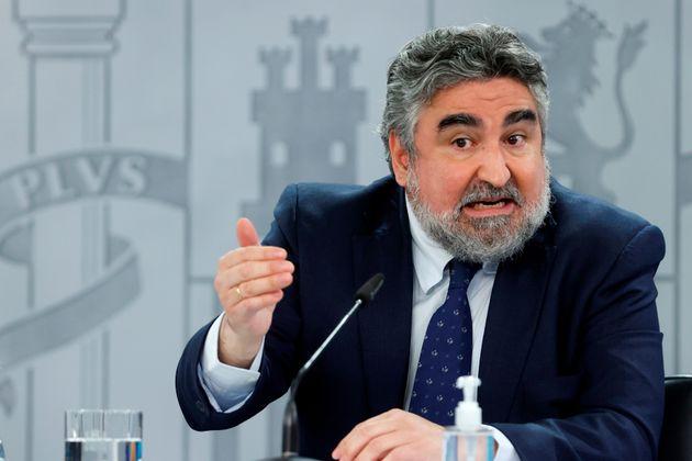 El ministro de Cultura, José Manuel Rodríguez Uribes, comparece en rueda de prensa para informar de lo...