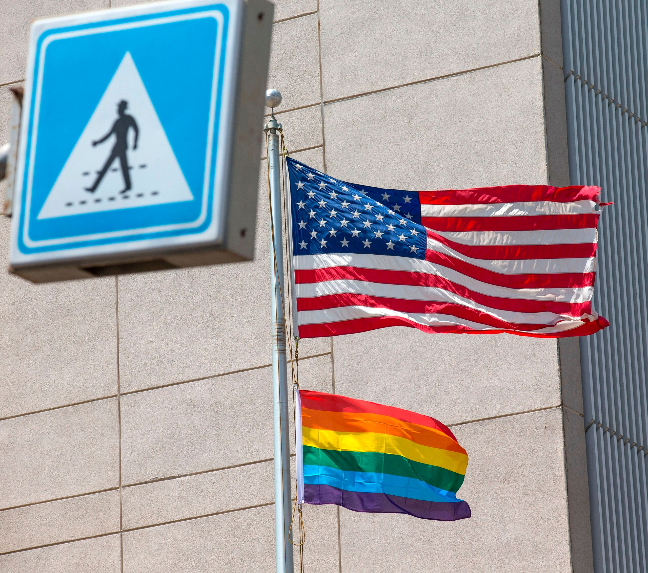 President Donald Trump barred U.S. embassies from flying LGBTQ+ pride flags. President Joe Biden rescinded the policy in Apri