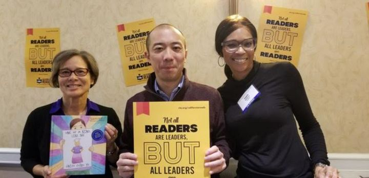 The author with Telly Tse, California Teachers Association director at-large, and Ingie Williams, CTA Human Rights Department