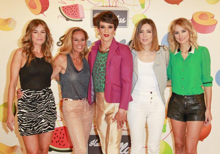 Sandra Barneda, Rocío Carrasco, Mónica Martínez, Alba Carrillo y Soledad León de Salazar en la presentación del programa 'Hable con ellas'.