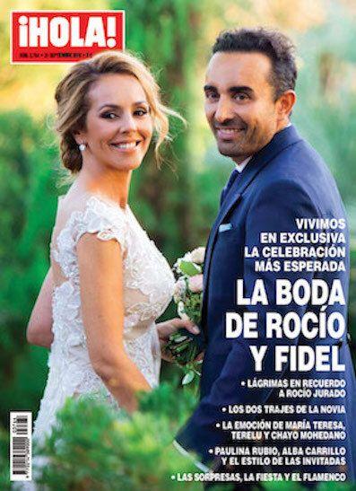 Portada de la boda de Rocío Carrasco y Fidel Albiac en ¡Hola!