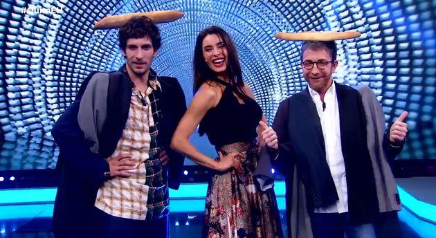 Quim Gutiérrez, Pilar Rubio y Pablo Motos, en 'El