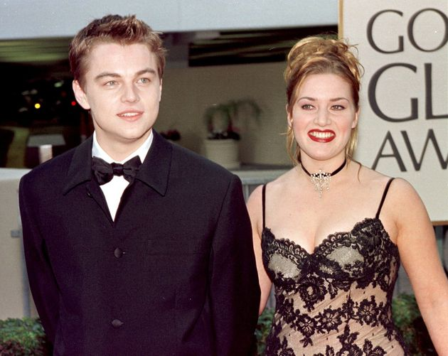 レオナルド・ディカプリオとケイト・ウィンスレット。1998年第55回ゴールデングローブにて