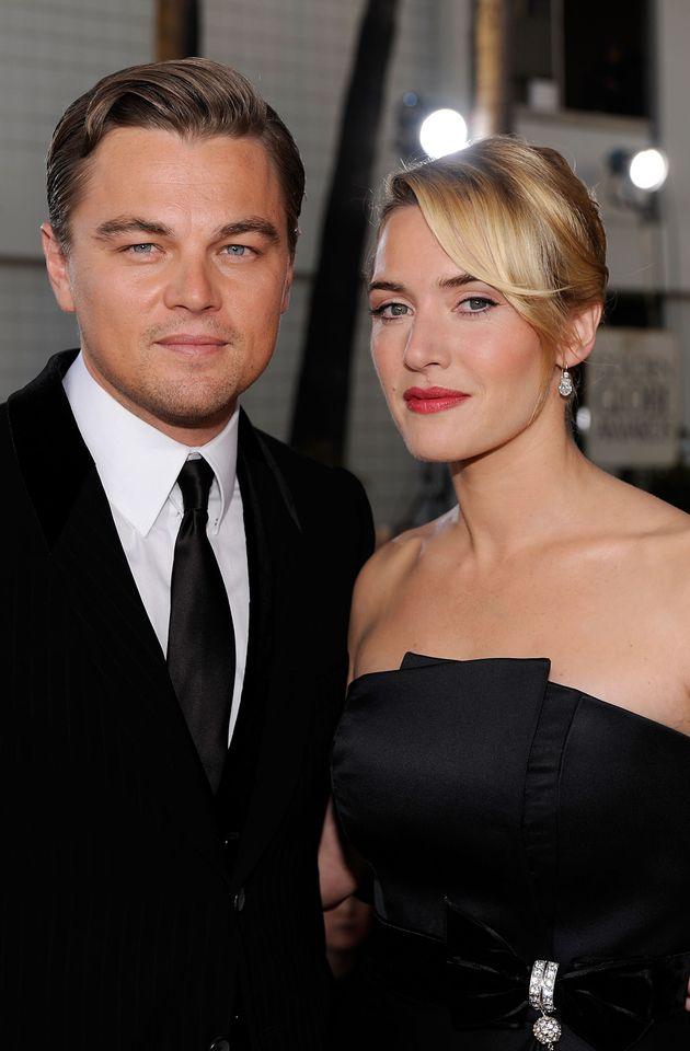 夫婦役を演じたディカプリオとウィンスレット。2009年第66回ゴールデングローブ賞にて