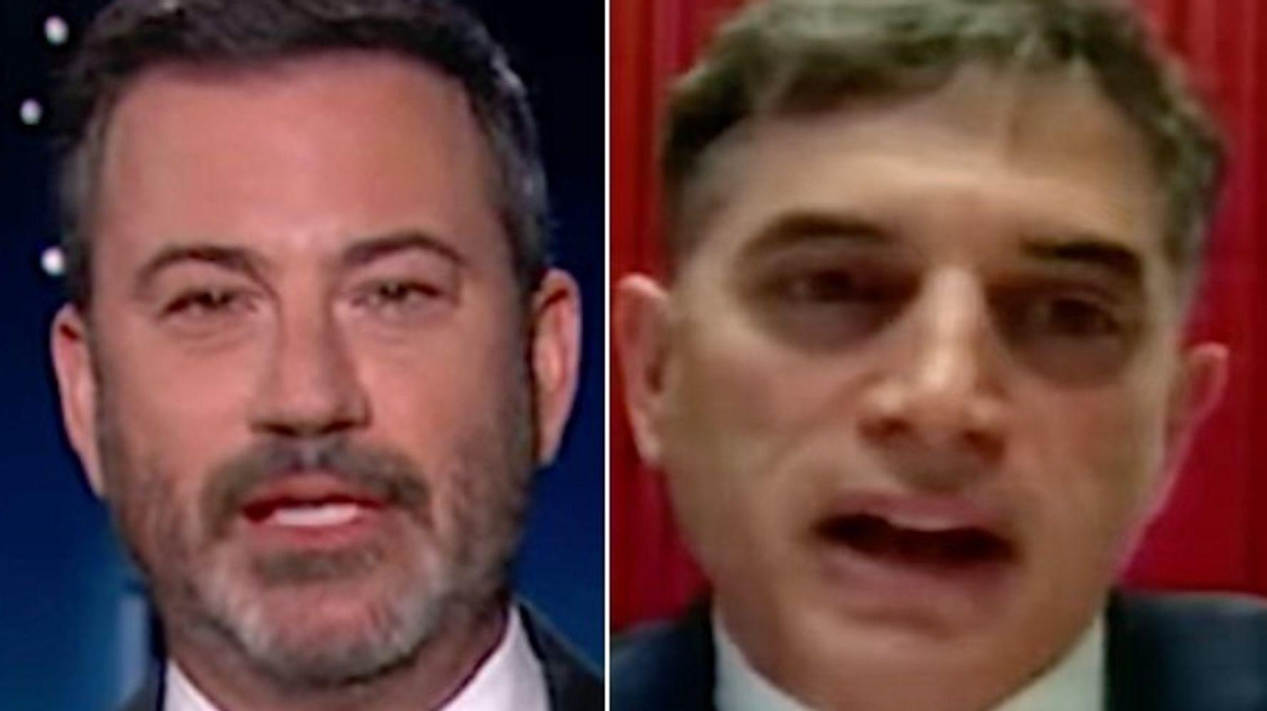 Jimmy Kimmel Dismantles GOP Lawmaker's Biggest, Boldest Insurrection Lie