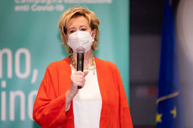 Vice Governor and Health and Welfare Minister of Lombardy Letizia Moratti attends the press conference...
