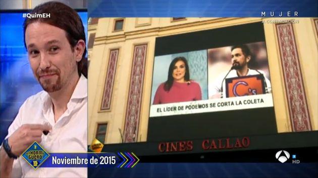Pablo Iglesias en 'El Hormiguero' en