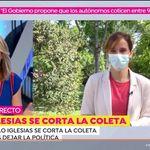Griso pregunta a Mónica García por la coleta de Pablo Iglesias y su respuesta es para