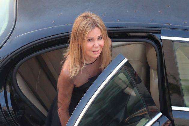 Ana Obregón, el día del funeral de su
