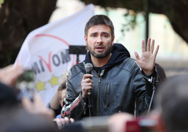 Alessandro Di Battista, leader of 5-Star Movement (M5S), takes part at the presentation of movement's...