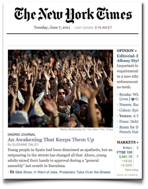 Versión digital del periódico estadounidense del 7 de junio de 2020 que recogía...