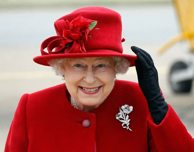 Queen Elizabeth II pictured in Anglesey, Wales on April 1,