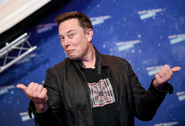 BERLIN, GERMANY DECEMBER 01: SpaceX owner and Tesla CEO Elon Musk poses on the red carpet of the Axel...