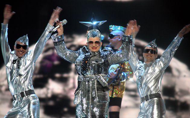 Verka Serduchka performing at Eurovision in 2007