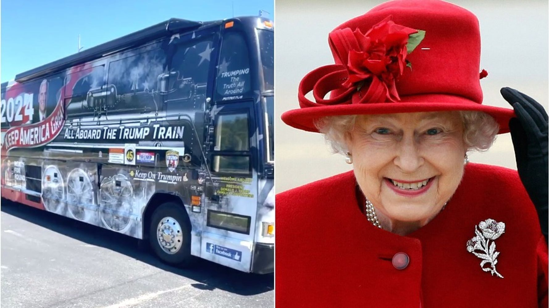 Buckingham Palace Wants Picture Of 'MAGA' Queen Elizabeth Removed From 'Trump Train'