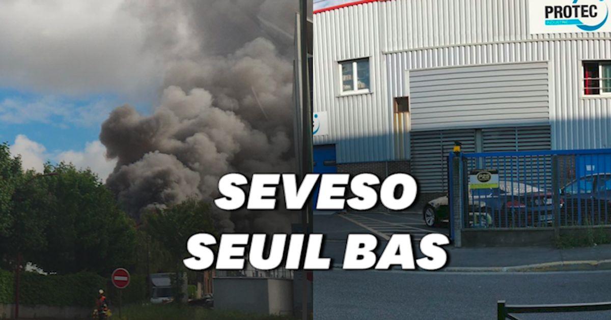 Un site classé Seveso touché par un incendie dans le Val-d'Oise