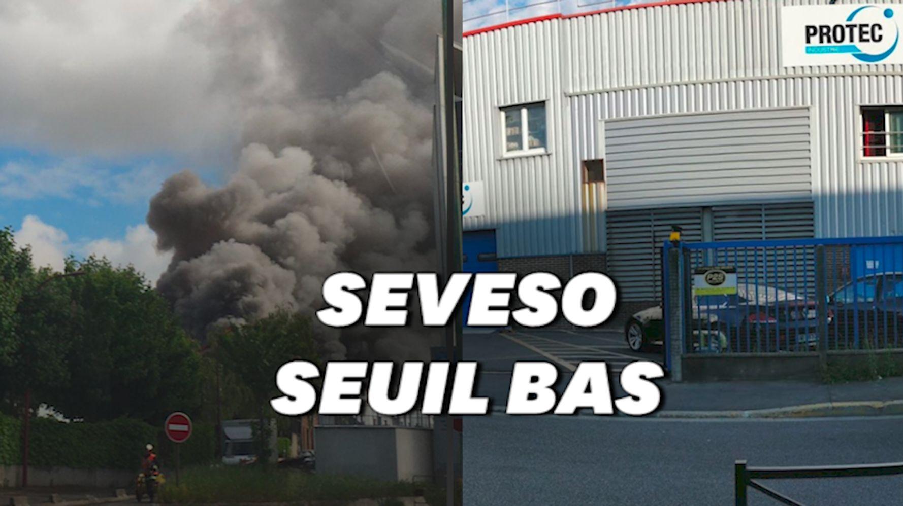 À Bezons, un site classé Seveso touché par un incendie