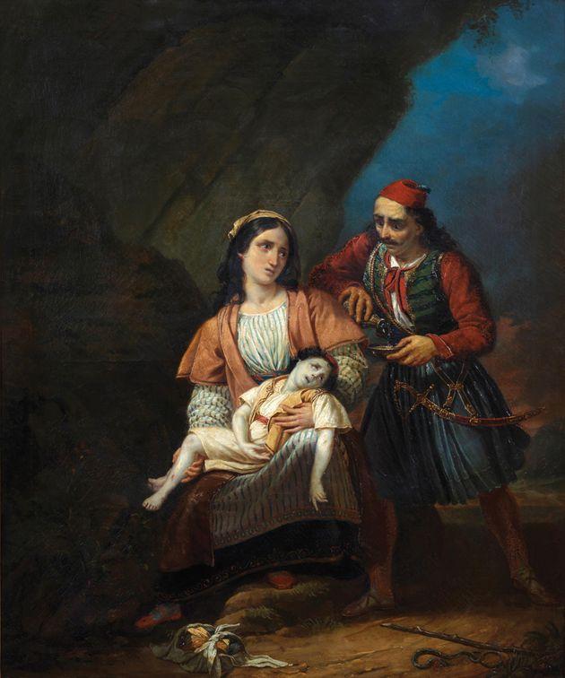 Ελληνίδα Μάνα με το νεκρό παιδί της, Αγνώστου, Γαλλικής σχολής, Α' μισό