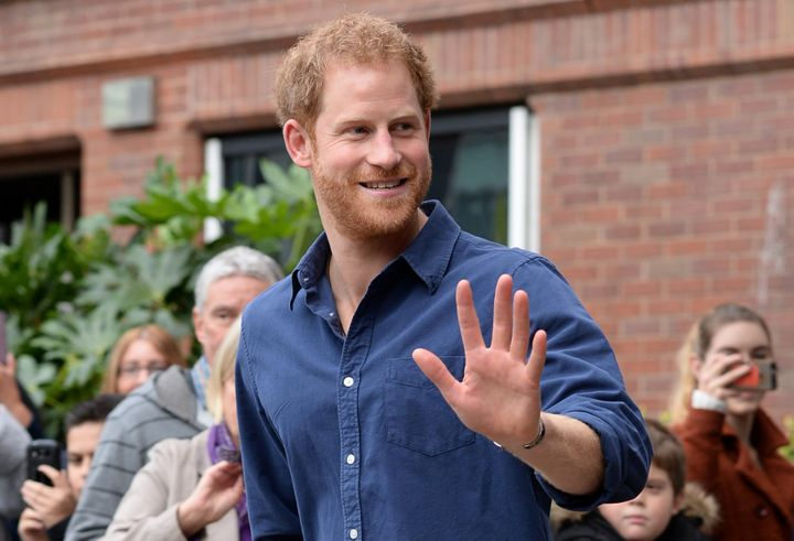Prince Harry on royal duty in Nottingham in 2016.