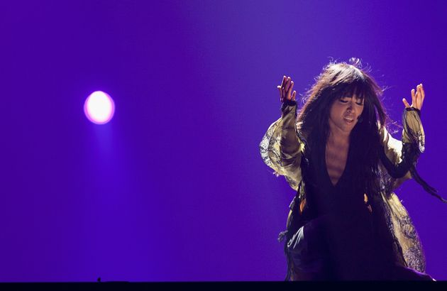 Loreen performing at Eurovision in