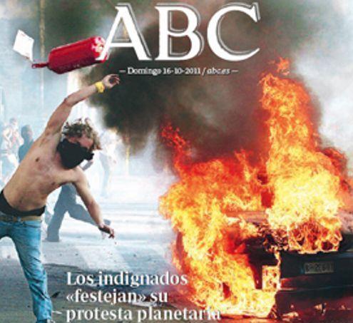 Portada de 'ABC' en el que adjudican escenas de violencia en Roma al movimiento