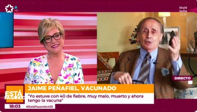 Inés Ballester charla con Jaime Peñafiel en 'Está