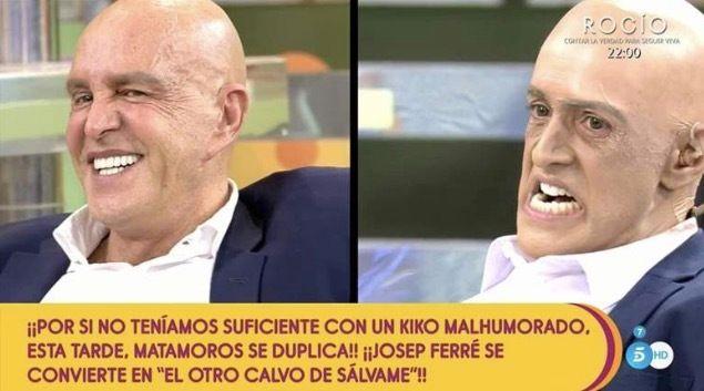 Kiko Matamoros y el actor que lo imita, Josep Ferre.
