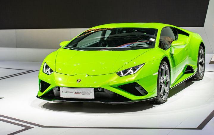 Authorities said Hines spent $318,000 of the PPP loan money on a 2020 Lamborghini Huracan. A Lamborghini Huracan Evo RWD spor