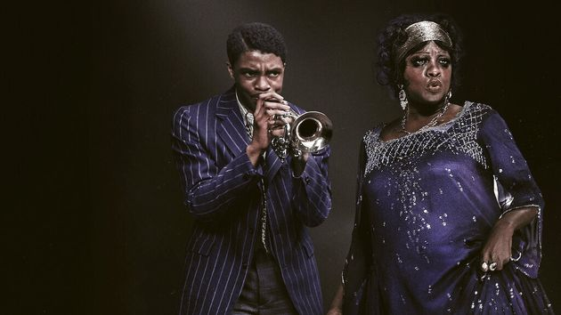 Chadwick Boseman and Viola Davis in Ma Rainey's Black