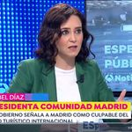 Le preguntan a Ayuso por la coleta de Pablo Iglesias y da una respuesta 100% a su