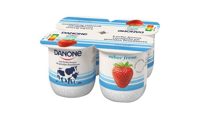 Un pack de yogures Danone.