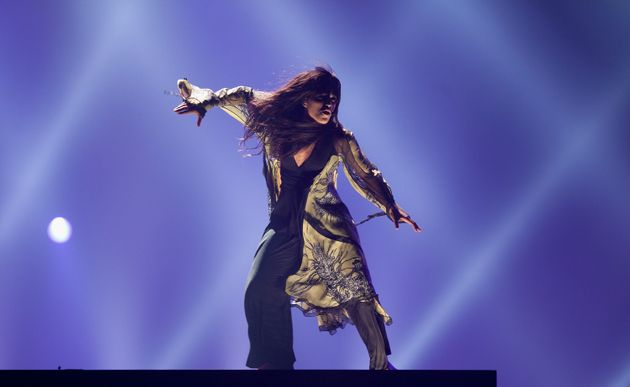 Loreen on stage in