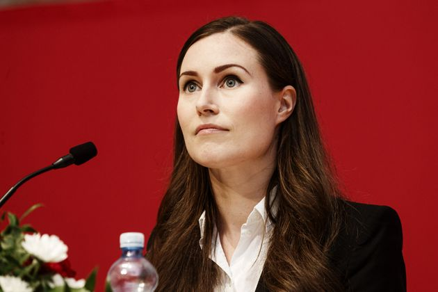 Finnish Prime Minister and newly elected Chair of The Social Democratic Party (SDP) of Finland Sanna...