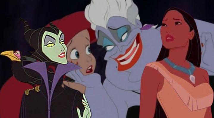 Maléfica ('La bella durmiente'), 'La sirenita' y 'Pocahontas'.