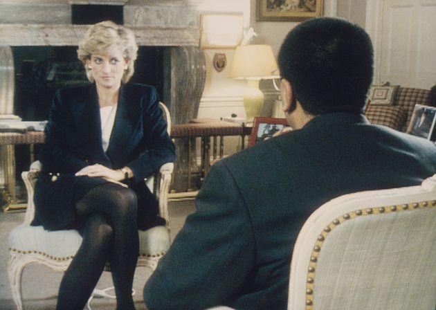 Martin Bashir interviewing Princess Diana in