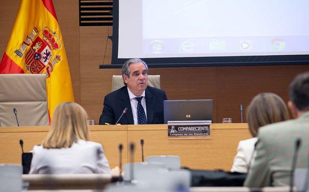 Jesús Aguilar, en la Comisión de Reconstrucción en el