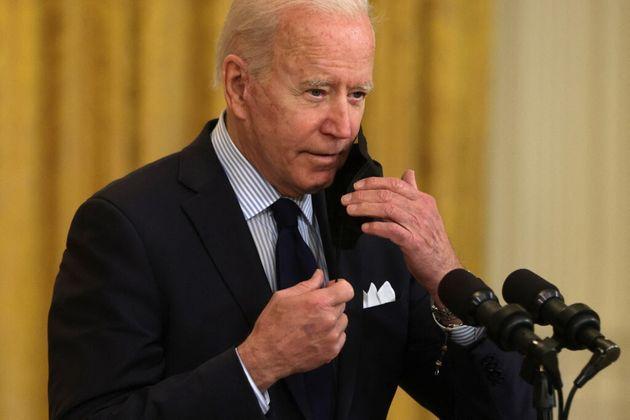 Le président américain, Joe Biden, lors d'un conférence de presse le 7 mai à la Maison