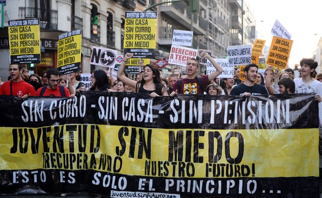 Manifestación de Juventud Sin Futuro, celebrada el 7 de abril de