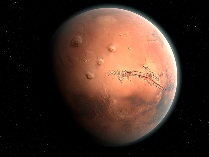 An impression of the Red Planet, Mars.