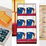 「白い恋人」「萩の月」「博多通りもん」3つの土産菓子が、まとめて届く