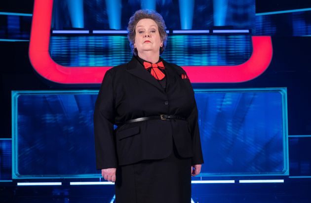 Anne Hegerty on the set of Beat The Chasers