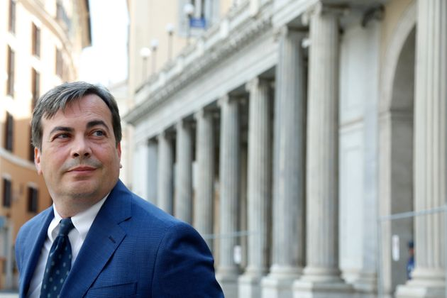 The Italian Minister for European Affairs Vincenzo Amendola in Piazza Colonna. Rome (Italy), July 16th...