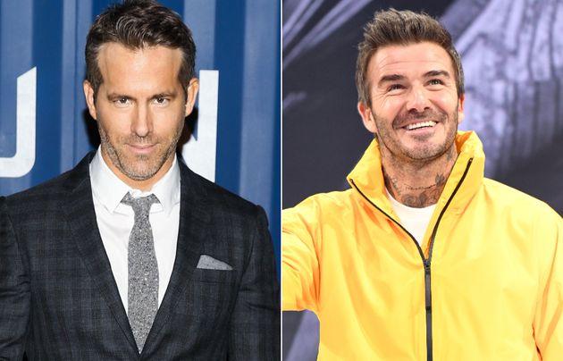 Ryan Reynolds and David Beckham